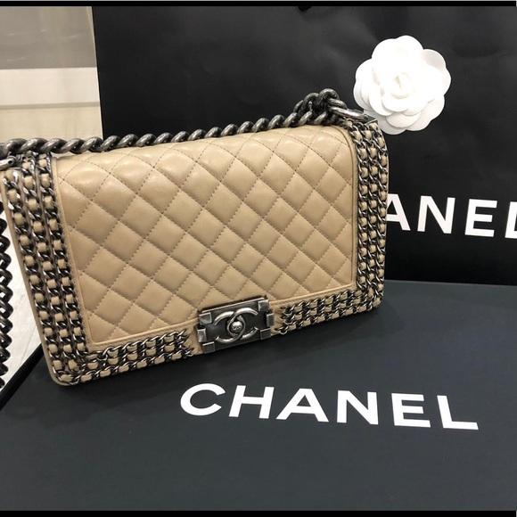 bcd226916eb2 CHANEL Bags | Le Boy Bag Old Medium Size With Chain | Poshmark